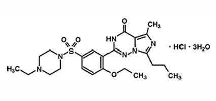 Vardenafil Molecular formula