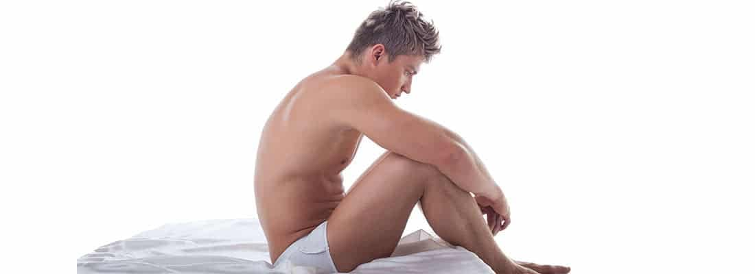 A man sit on the bed